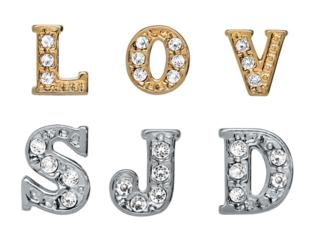 Letter Floating Charms