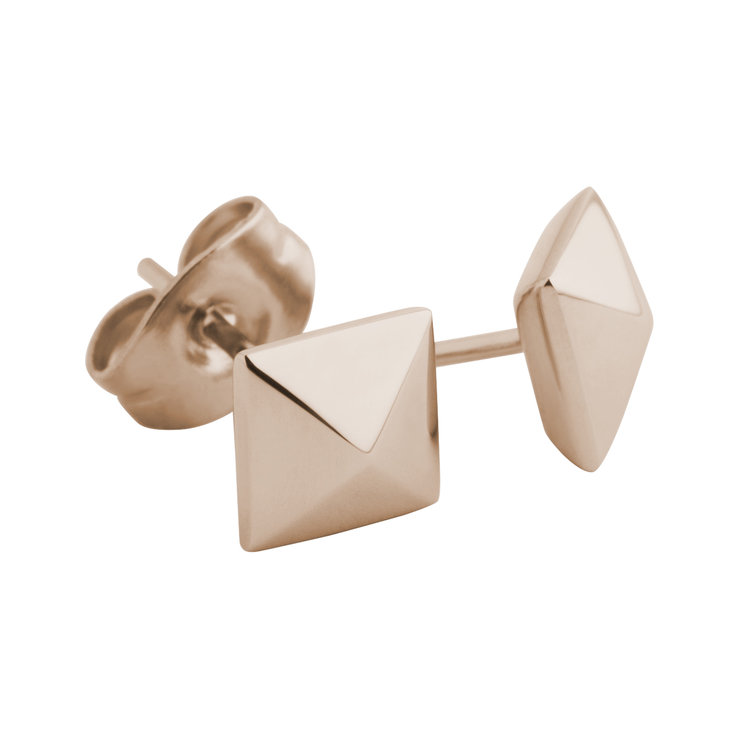 Melano Meddy Earstuds Keira Stainless Steel Rose Gold-coloured 6mm