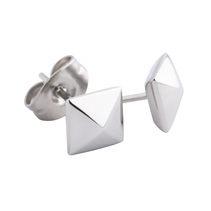 Melano Meddy Earstuds Keira Stainless Steel Silver-coloured 6mm