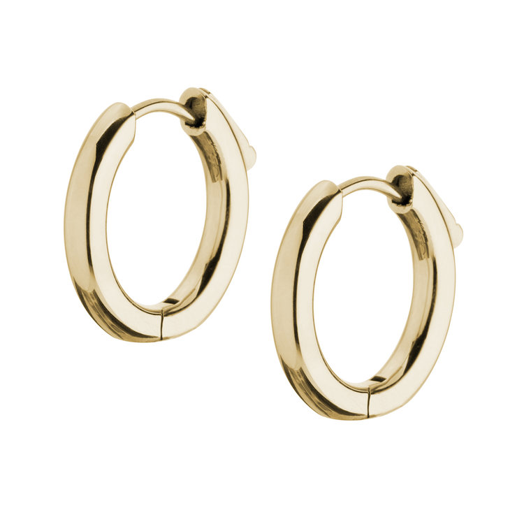 Melano Earrings Anna 12mm Stainless Steel Rose Gold-coloured