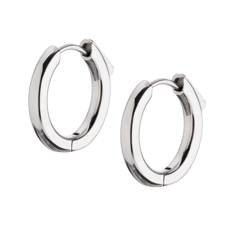 Melano Earrings Anna 12mm Stainless Steel Silver-coloured