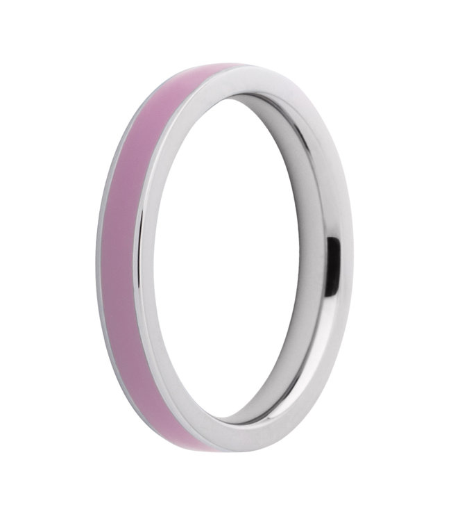 Melano Friends Ring Gwyneth Limited Edition Stainless Steel Resin Aurora Pink