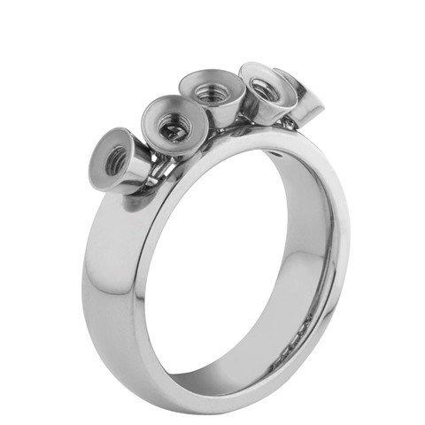 Melano Twisted Ring Tess Edelstaal Zilverkleurig