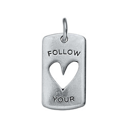 Alexander Jacobs Jewels Edelstaal Tag Zilverkleurig Follow Your Heart