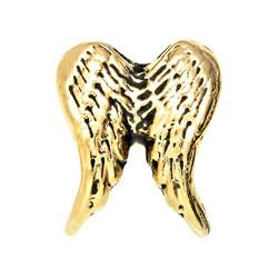 Alexander Jacobs Jewels Floating Charm Edelstaal Goudkleurig Vleugels