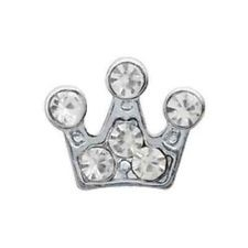 Alexander Jacobs Jewels Floating Charm Edelstaal Zilverkleurig Kroon Zirkonia Crystal