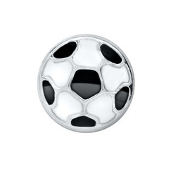 Alexander Jacobs Jewels Floating Charm Edelstaal Voetbal