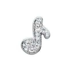 Alexander Jacobs Jewels Floating Charm Edelstaal Zilverkleurig Muziek Noot