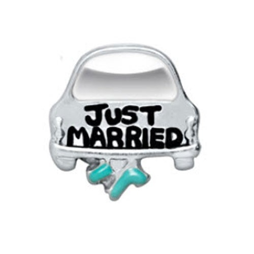 Alexander Jacobs Jewels Floating Charm Edelstaal Just Married
