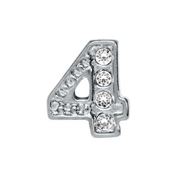 Alexander Jacobs Jewels Floating Charm Edelstaal  Zilverkleurig 4