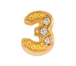 Alexander Jacobs Jewels Floating Charm Edelstaal  Goudkleurig 3