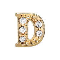 Alexander Jacobs Jewels Floating Charm Edelstaal  Goud D