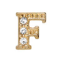 Alexander Jacobs Jewels Floating Charm Edelstaal  Goud F