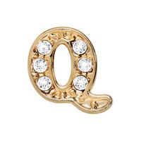 Alexander Jacobs Jewels Floating Charm Edelstaal  Goud Q