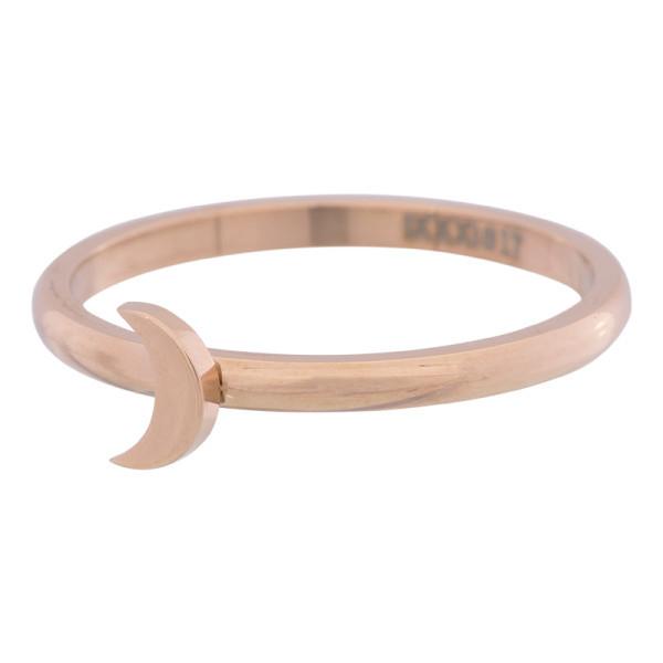iXXXi Ring 2mm Edelstaal Rose Goud Maan