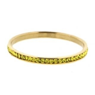 iXXXi Ring 2mm Goud Small Zirkonia Lime