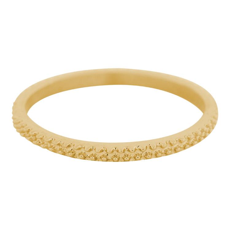 iXXXi Ring 2mm Edelstaal Kaviaar Goud