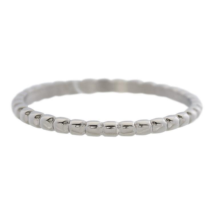 iXXXi Ring 2mm Edelstaal Bolletjes Zilver