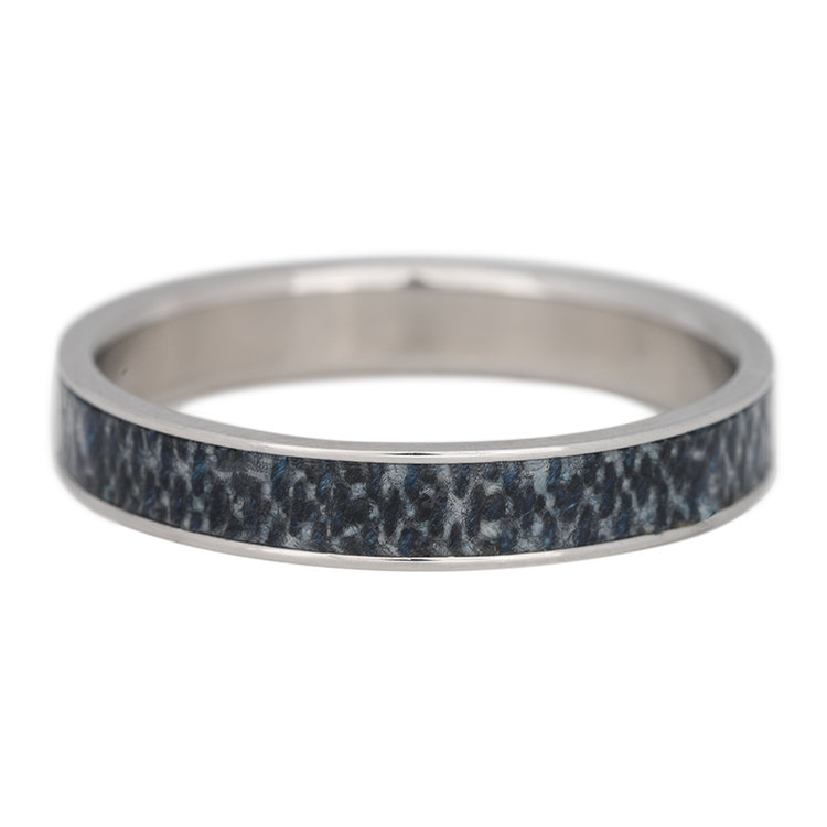 iXXXi Ring 4mm Edelstaal Zilver Jeans