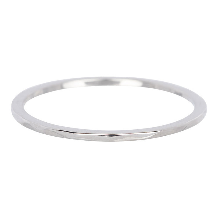 iXXXi Ring 1mm Edelstaal Zilver Wave