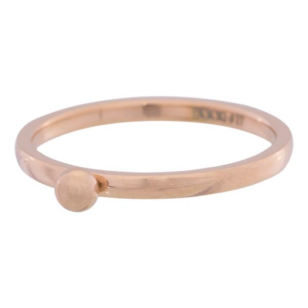 iXXXi Ring 2mm Edelstaal Rose Goud 1 Bolletje