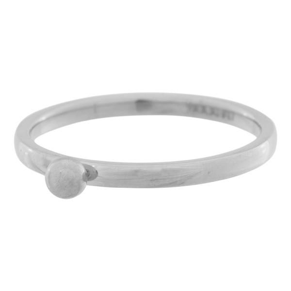 iXXXi Ring 2mm Edelstaal Zilver 1 Bolletje