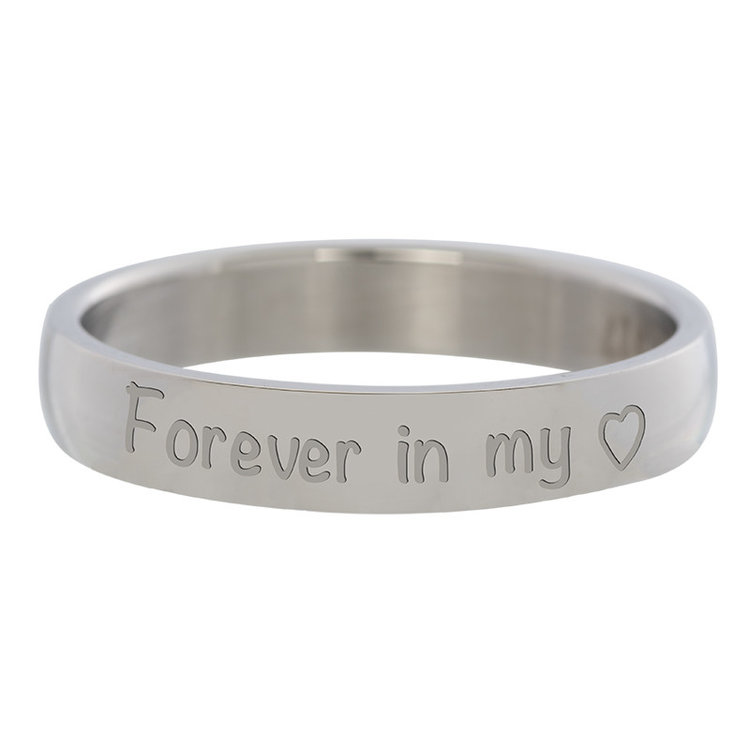 iXXXi Ring 4mm Edelstaal Forever in my Heart