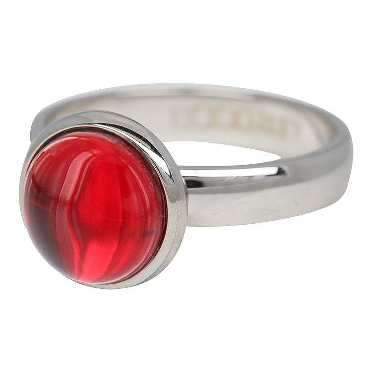 iXXXi Ring 4mm Edelstaal Zilver Valentijn Rood
