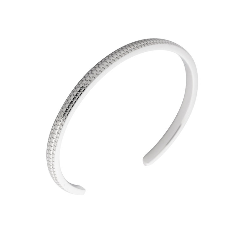 MelanO Friends Side Bangle Jessica Edelstaal Zilver Refined