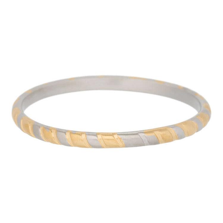 iXXXi Ring 2mm Rope Edelstaal Goud en Zilver