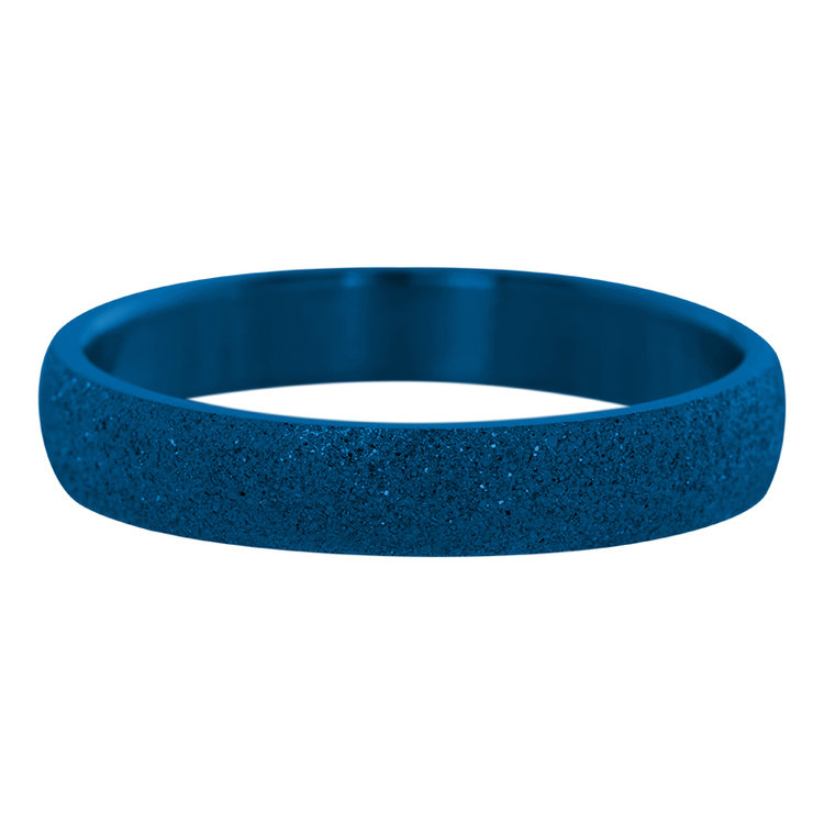 iXXXi Ring 4mm Edelstaal Sandblasted Blauw