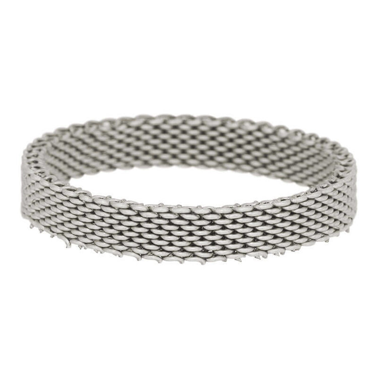 iXXXi Ring 4mm Mesh Edelstaal Zilver