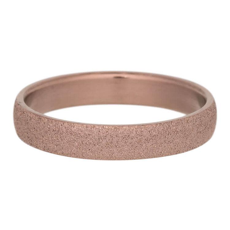 iXXXi Ring 4mm Edelstaal Sandblasted Bruin