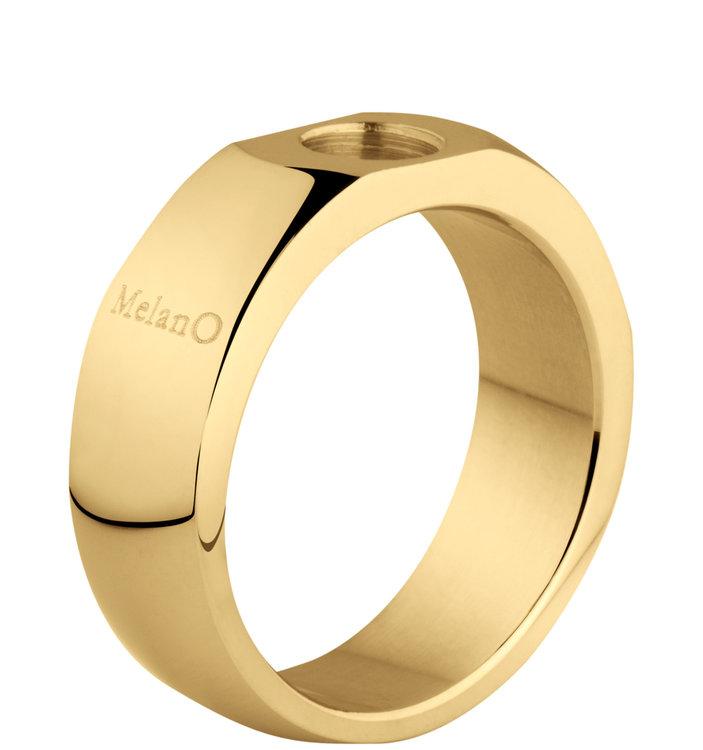 MelanO Sturdy Ring Stefanie Edelstaal Goud Glans 6mm