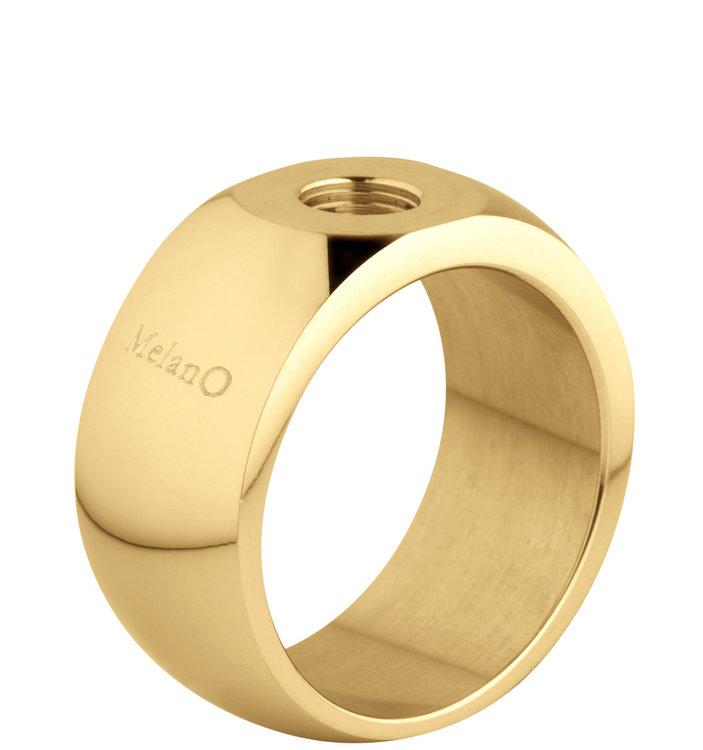 MelanO Sturdy Ring Stefanie Edelstaal Goud Glans 10mm