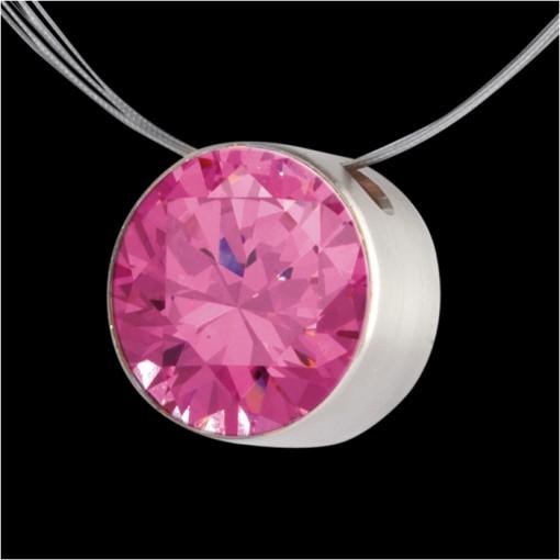 MelanO Stainless Steel Zirkonia Hanger Pink