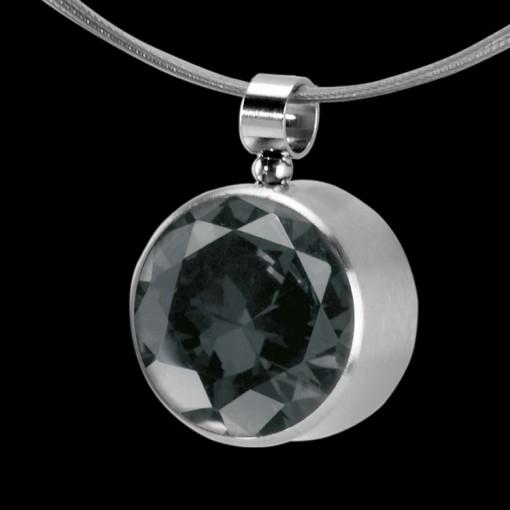 MelanO Stainless Steel Zirkonia Hanger & Oog Transparant Black