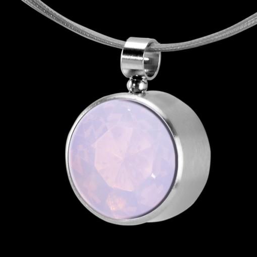 MelanO Stainless Steel Zirkonia Hanger & Oog Milk Pink
