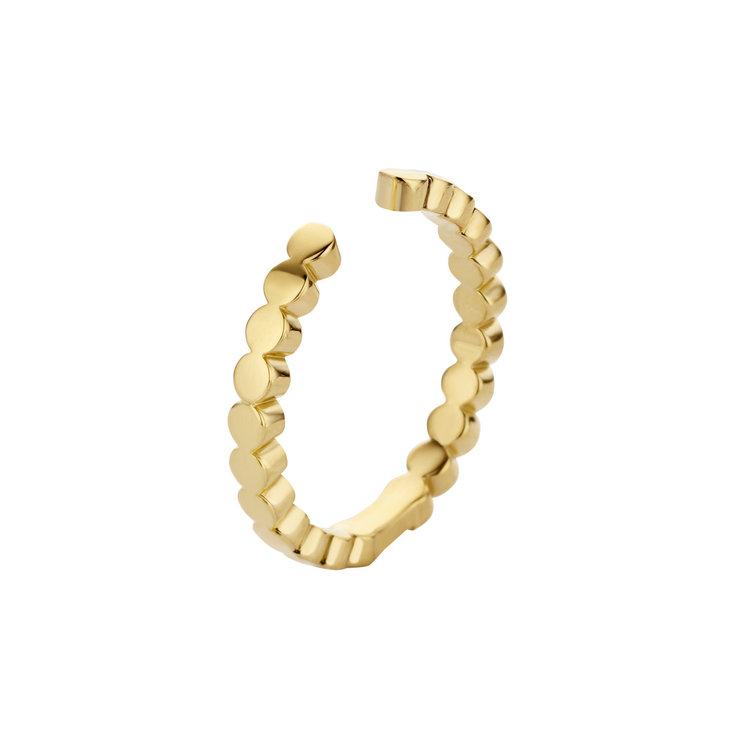MelanO Twisted Ring Tina Edelstaal Goud