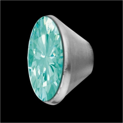 MelanO Stainless Steel Setting Conisch Turquoise