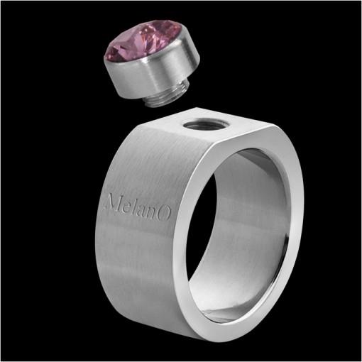 MelanO Stainless Steel Ring for Setting Square 10mm