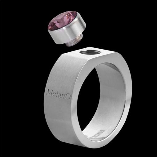 MelanO Stainless Steel Ring for Setting Square 8mm