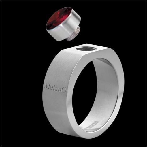 MelanO Stainless Steel Ring for Setting Square 6mm