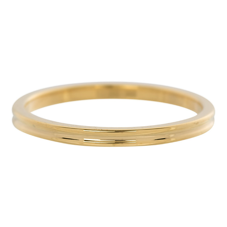 iXXXi Ring 2mm Goud Small Ribbel