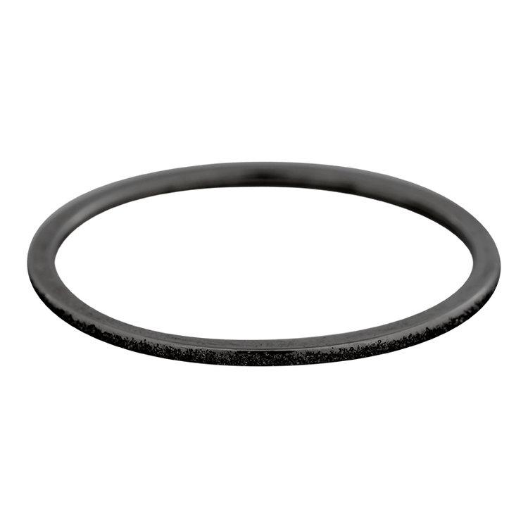 iXXXi Ring 1mm Edelstaal Zwart Sandblasted