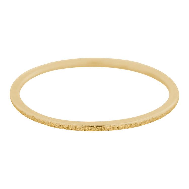 iXXXi Ring 1mm Edelstaal Goud Sandblasted