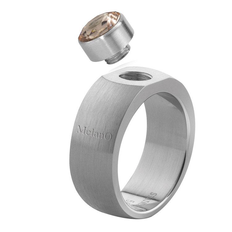 MelanO Sturdy Ring Stefanie Edelstaal Mat 8mm