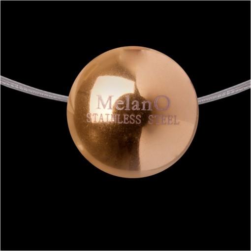 MelanO Stainless Steel Ball Hanger Glans Rose Goldplated