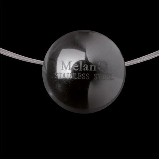 MelanO Stainless Steel Ball Hanger Glans Black