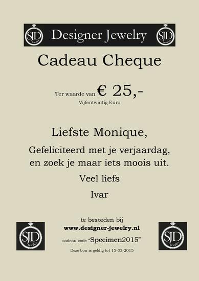 SJD Jewelry Cadeau Bon € 25